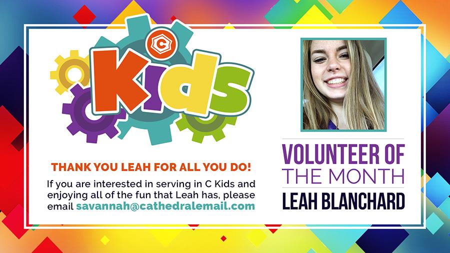 cKids Volunteer of the Month - October 2017