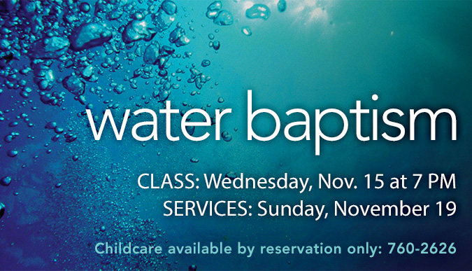 Water Baptisms - November 2017