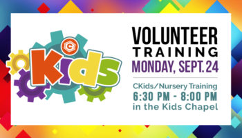 cKids Volunteer Traiing - Sept. 24