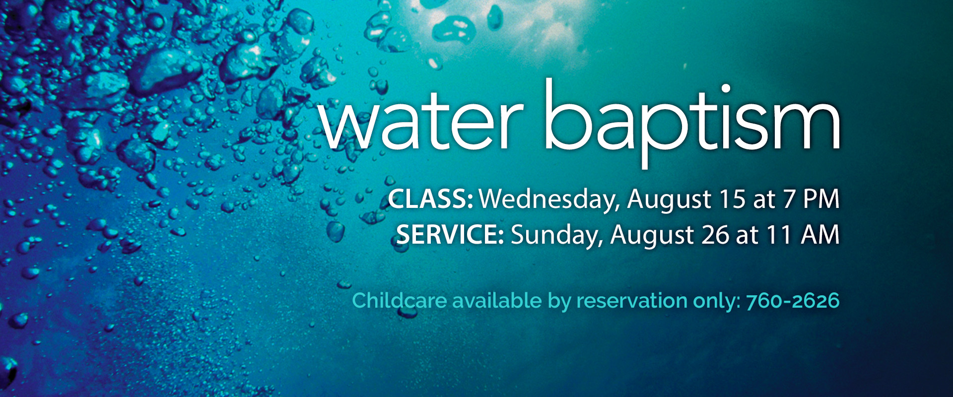 Water Baptisms - August 2018