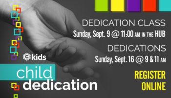 Child dedication class - Sept. 2018
