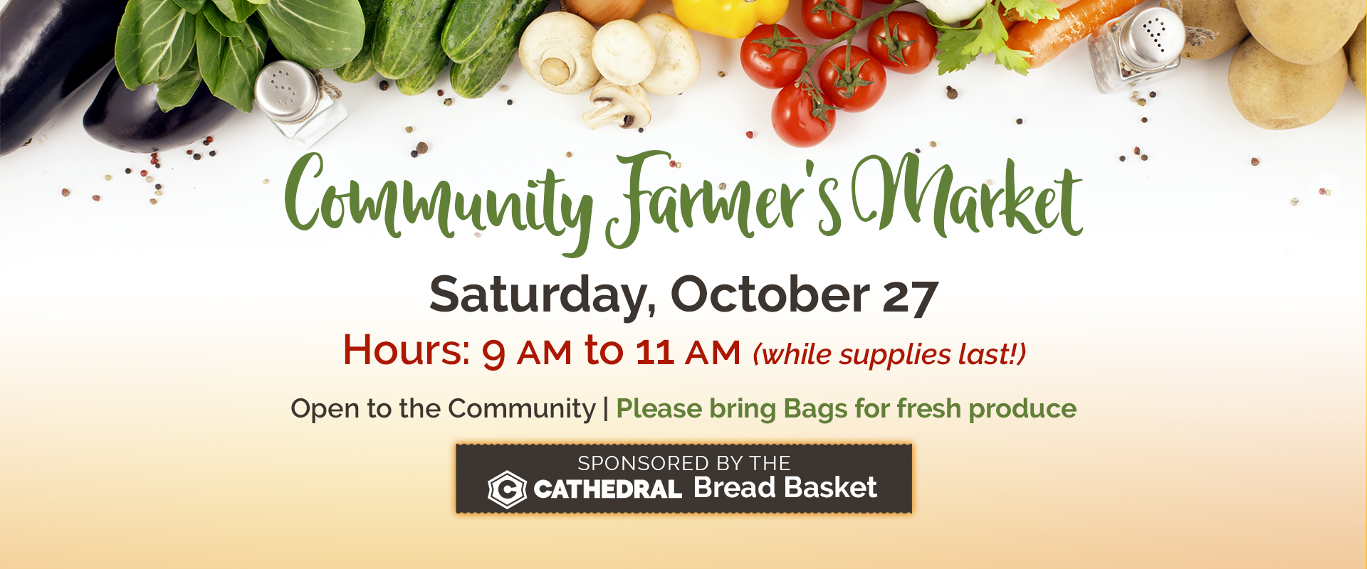 Community Farmer's Market - October 27, 2018