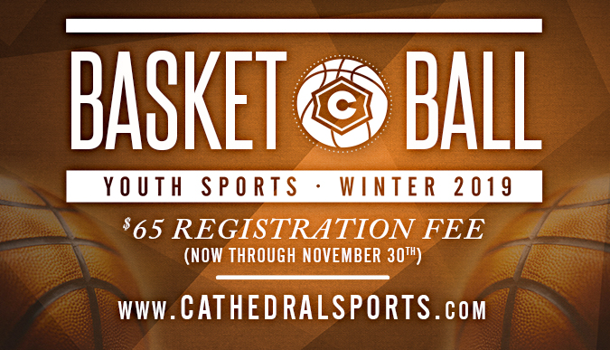 Youth Basketball 2019 Registration - now open