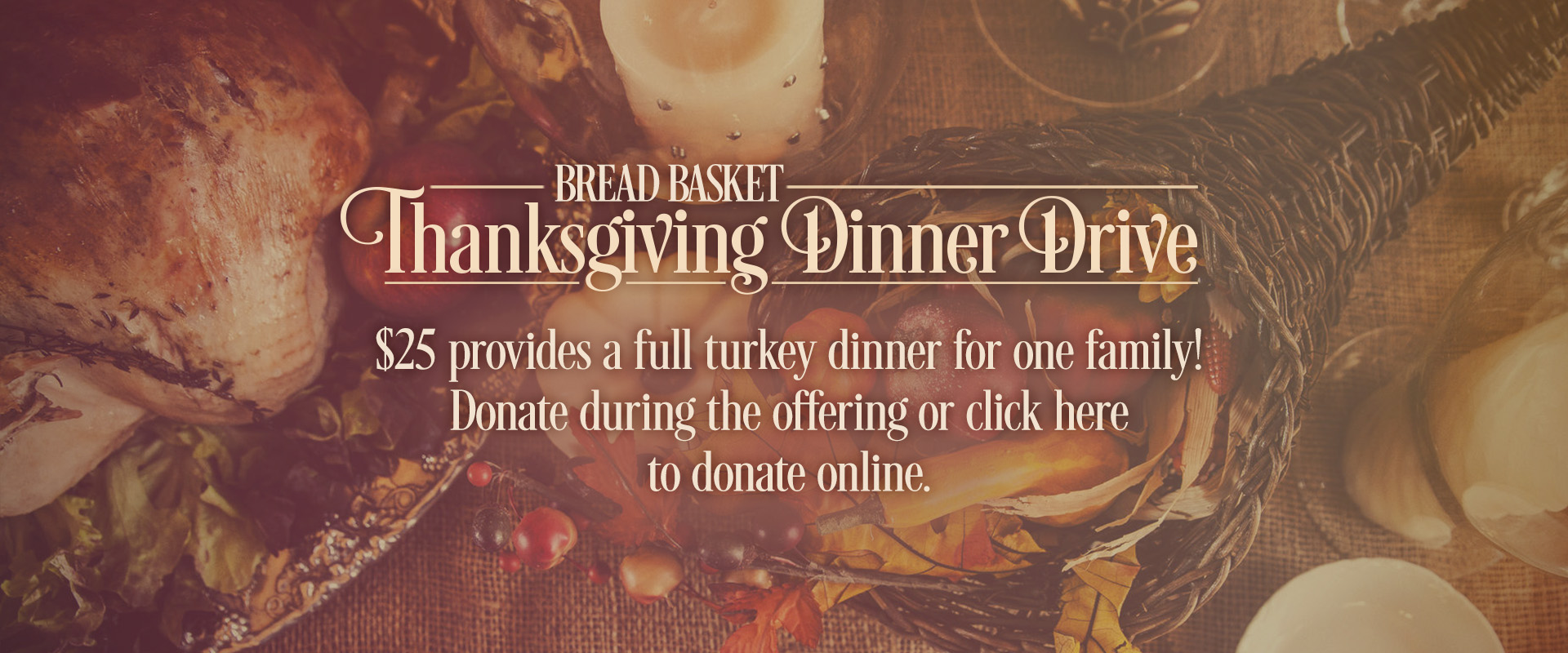 thanksgiving dinner drive