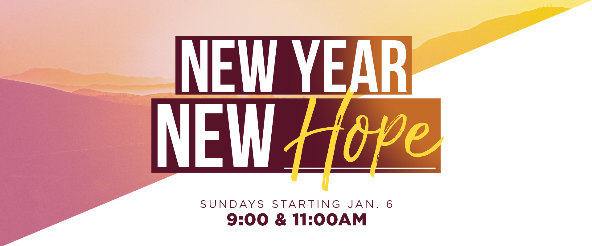 New Year New Hope message series slide