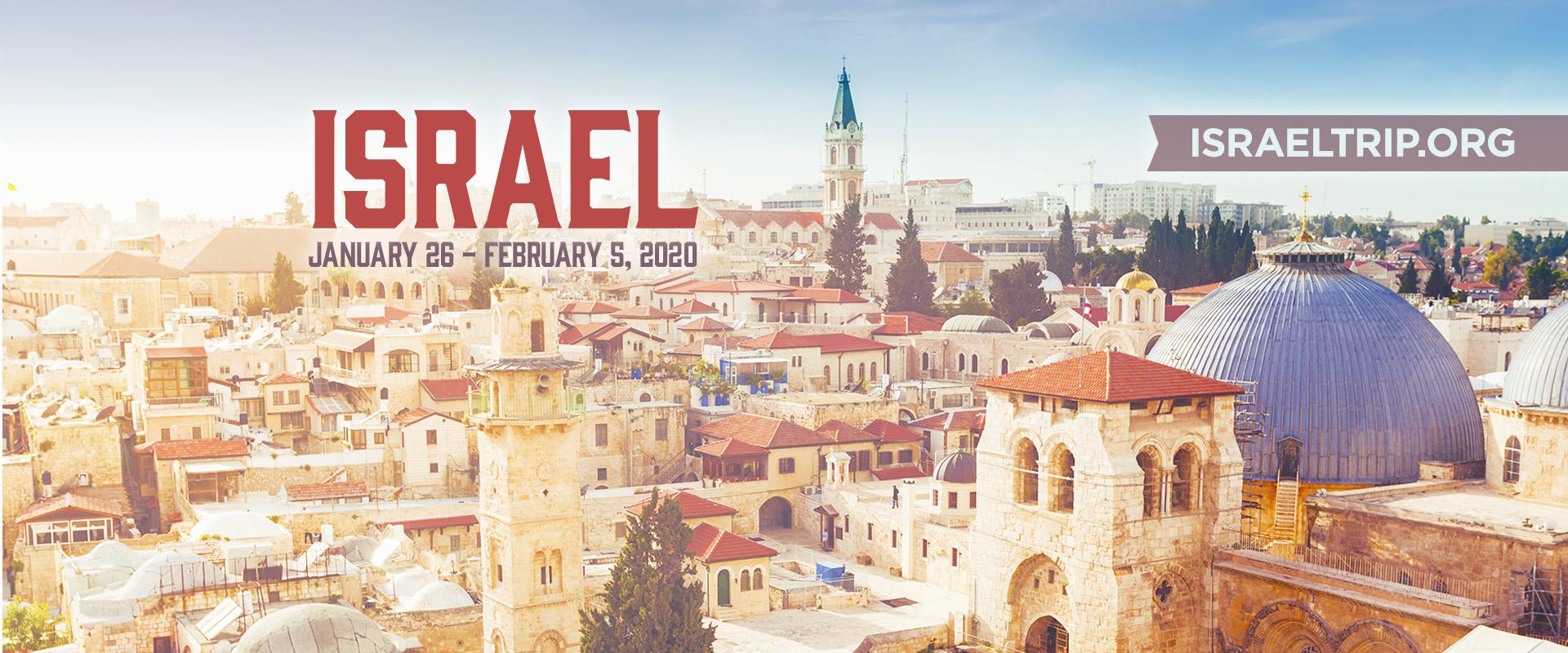 Israel Trip 2020 slide