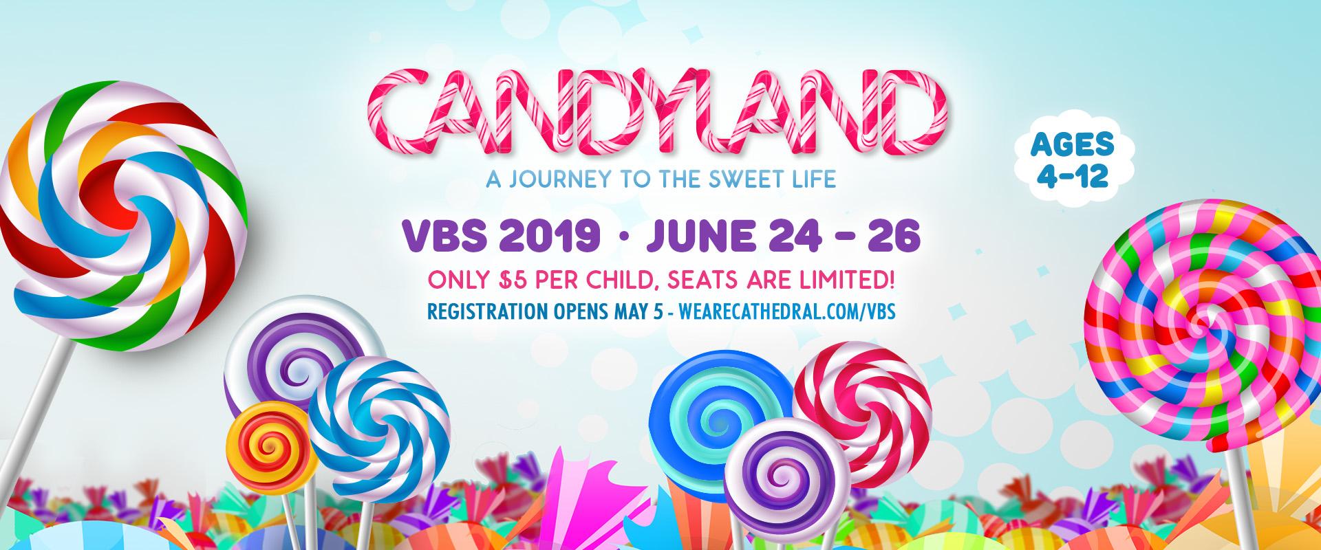 VBS 2019 Candyland - front page slide